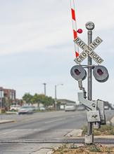 Railroad Crossing Sign On Urba...