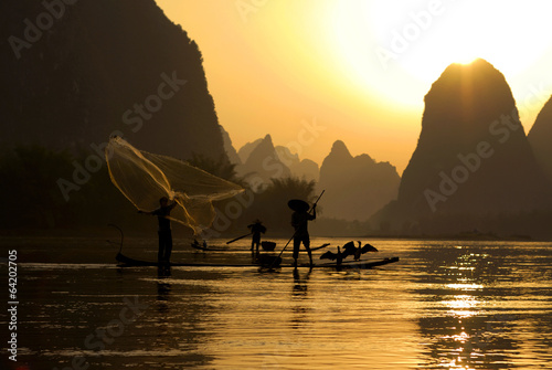 Foto op Canvas Guilin Traditional China