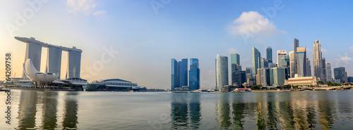Tuinposter Singapore Singapore city skyline panorama