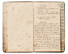 Antique Recipe Book With Handwritten Text