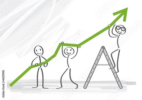 Unternehmensgewinn, Wachstum Canvas Print
