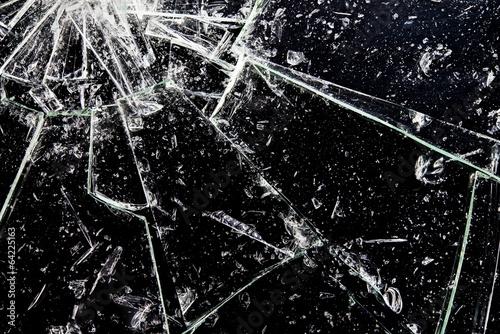 割れたガラス Fototapet