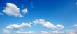 canvas print picture - blauer Himmel mit Wolken - Panoramaformat