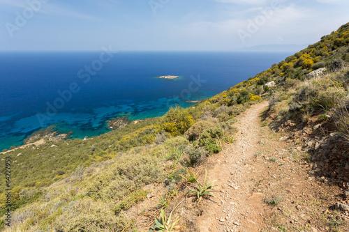 Foto op Plexiglas Cyprus La côte vue depuis le sentier d'Aphrodite
