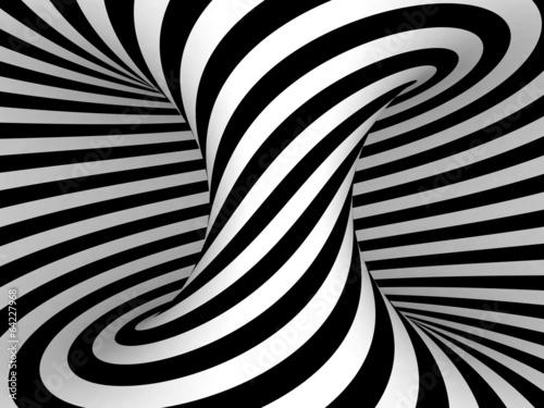 Zdjęcie XXL Projekcja czarno-białych pasów na Torusie.