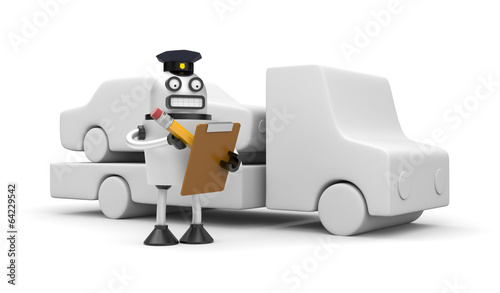 Photo  Robocop officer towing auto