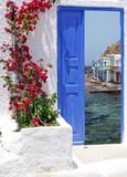 Traditional greek house on Santorini island, Greece