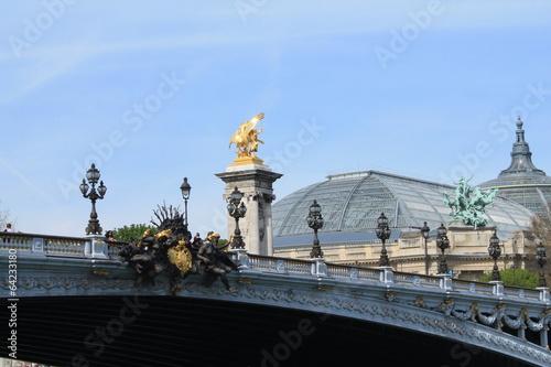 Foto op Plexiglas Historisch geb. Pont Alexandre 3, Paris