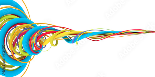 Fotomural  Colorful wires
