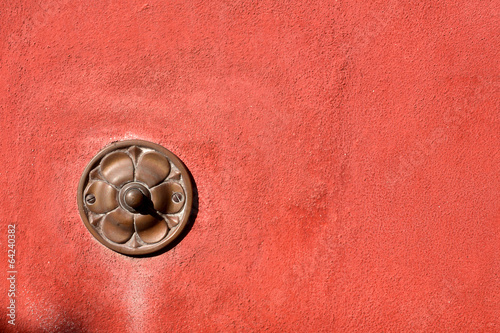 фотографія  Old Doorbell on Wall - Liguria Italy