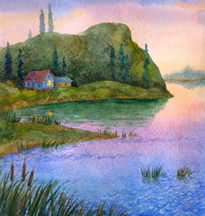 Plakat House on the lake