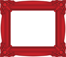 Red Baroque Frame Isolated On ...