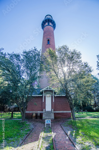 Fotografie, Obraz  Currituck Beach Lighthouse on the Outer Banks of North Carolina