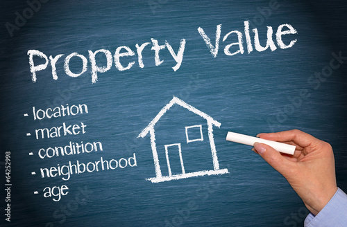 Property Value - Real Estate Concept Canvas Print
