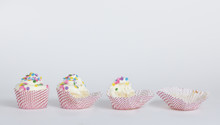 Cupcake Eaten In Stages