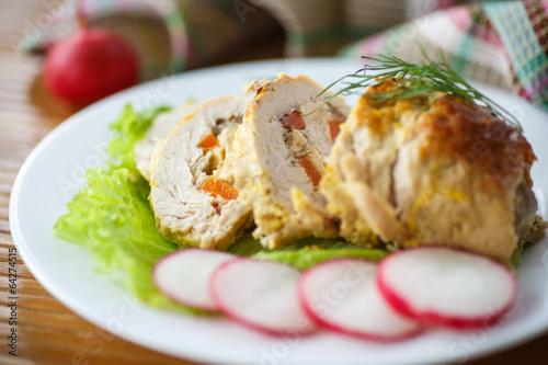 Fotografie, Tablou chicken roll meat