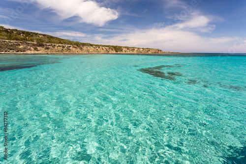 Foto op Canvas Cyprus Lagon Blue lagoon de Chypre