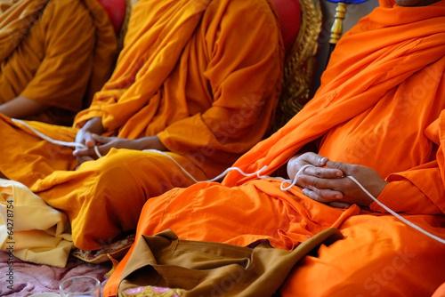 Fotografia  Monks of the religious rituals, Buddhist ceremony