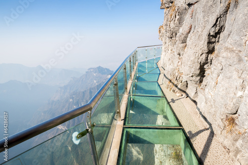 Türaufkleber China Tianmenshan Tianmen Mountain China