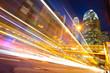HongKong of modern landmark buildings backgrounds road light tra