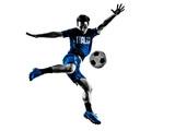 Fototapeta Sport - italian soccer players man silhouettes