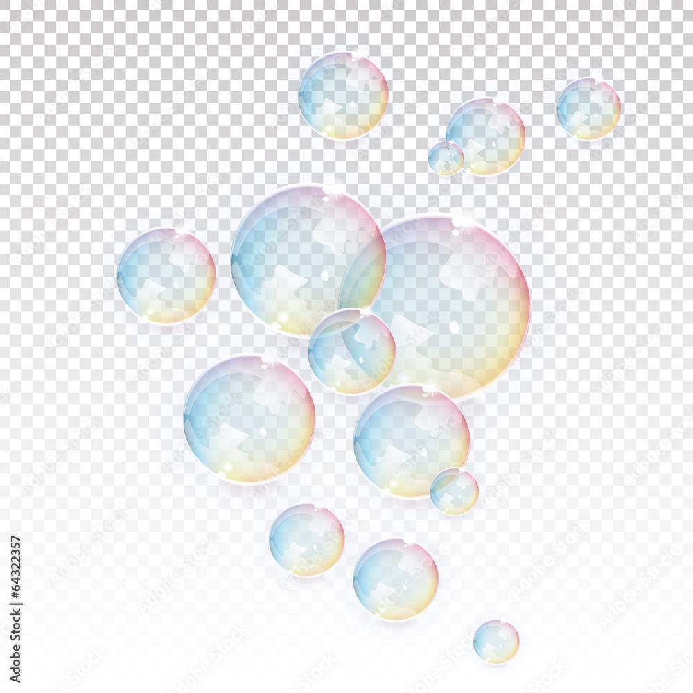 Fototapeta Transparent Vector Bubbles