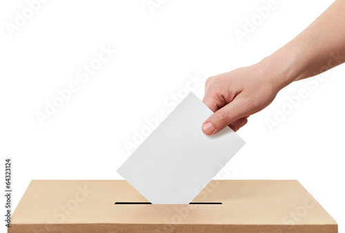 Valokuva ballot box casting vote election