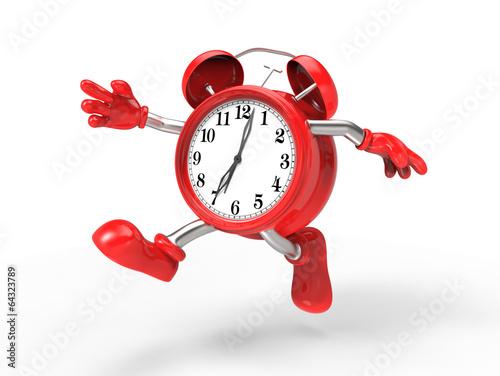 Fotografía  character alarm clock run