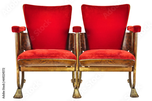 Two Vintage Movie Theater Chairs Isolated On White Buy This Stock Photo And Explore Similar Images At Adobe Stock Adobe Stock