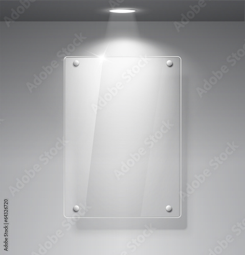 Empty glass frame on a wall - Buy this stock vector and explore ...