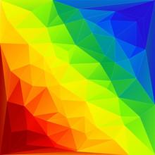 Rainbow Triangles Background
