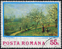 """Stamp Shows Picture """"Orchard I..."""
