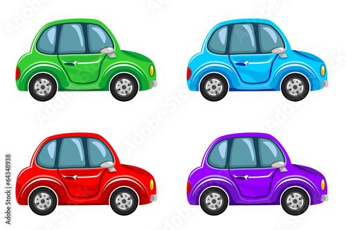 Staande foto Cartoon cars Cartoon cars.