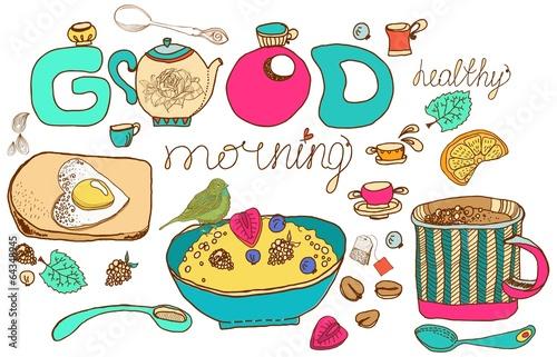 Vintage color morning tea background
