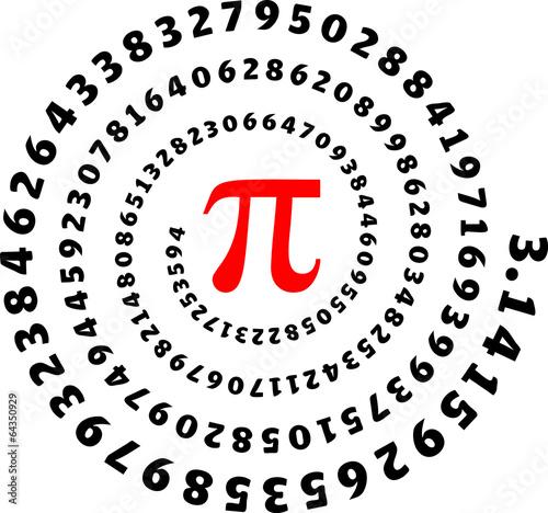 Fototapeta Pi, 3,14, Pi Day, Zahl, Spirale, Mathe, Mathematik, Symbol