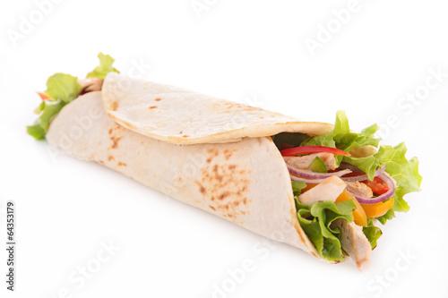 Fotografie, Obraz  tortilla wrap
