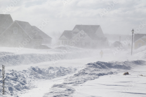 Photo sur Toile Tempete Snow Storm