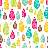 Colorful rain. Seamless pattern.