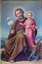 Roznava - Paint Of St. Joseph In The Cathedral