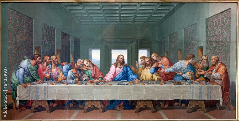 Fototapety, obrazy: Vienna - Mosaic of Last supper - copy Leonardo da Vinci