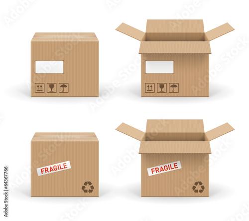 Foto Boites en carton vectorielles 1
