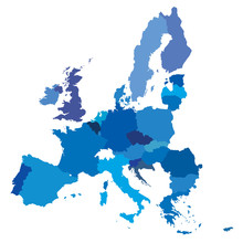 Vector Mape Of European Union ...