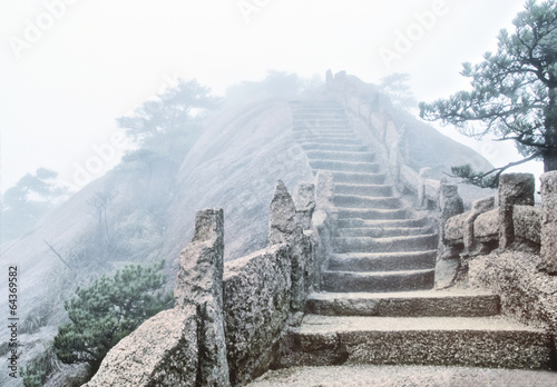 Tuinposter China Huangshan mountains in Anhui province in China