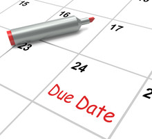 Due Date Calendar Shows Deadli...