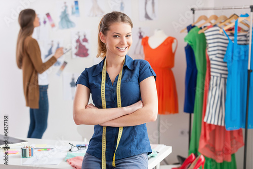 Fashion designers at work. Fototapeta