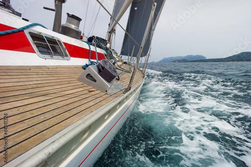 Tuinposter Zeilen sailing boat in the sea