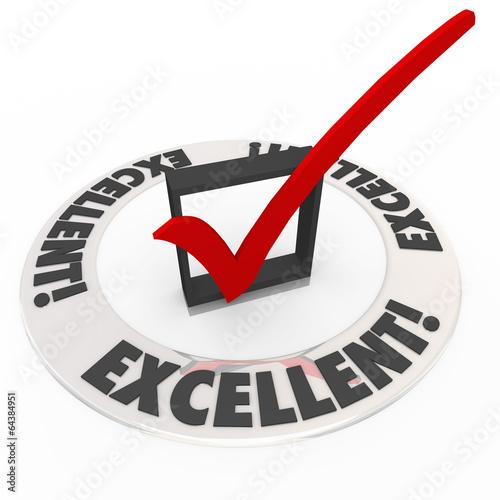 Fotografie, Obraz  Excellent Check Mark Box Completed Finished Goal Task