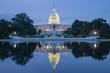 canvas print picture - Washington, DC - Reflection of US Capitol Building