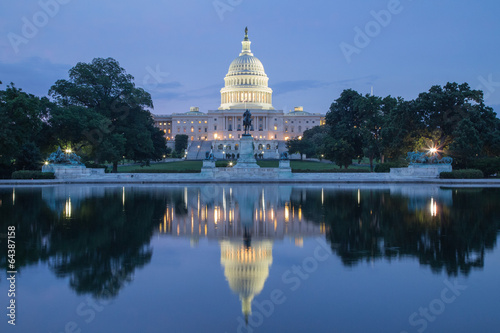 Washington, DC - Reflection of US Capitol Building