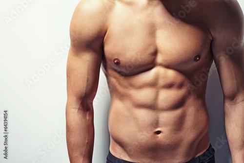 Obraz Muscular torso of young man - fototapety do salonu